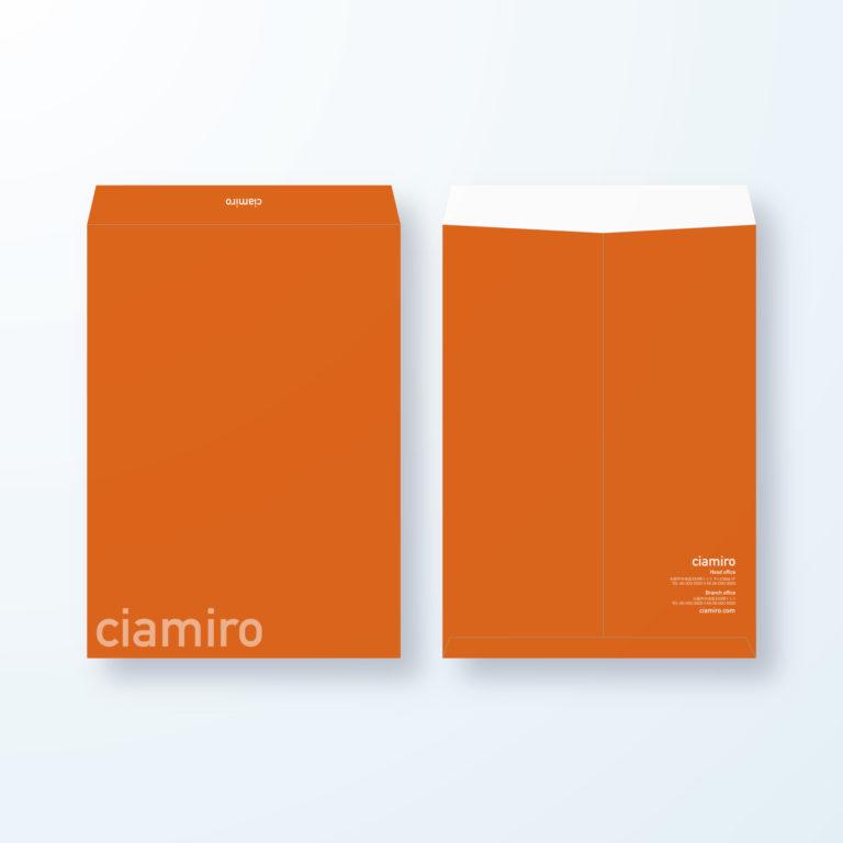 封筒デザイン【角2封筒】アクティブオレンジの単色封筒