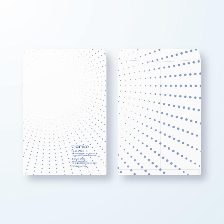 封筒デザイン【角2封筒】拡大・拡散するイメージのデザイン