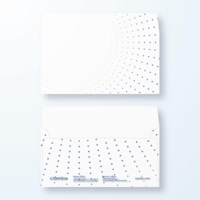 封筒デザイン【洋長3封筒】拡大・拡散するイメージのデザイン