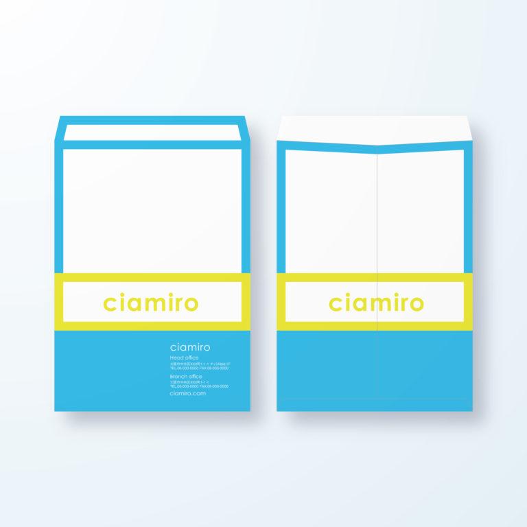 封筒デザイン【角2封筒】枠でネームを強調デザイン