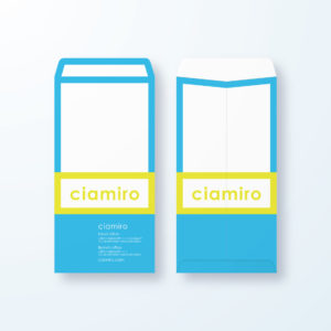 封筒デザイン【長3封筒】枠でネームを強調デザイン