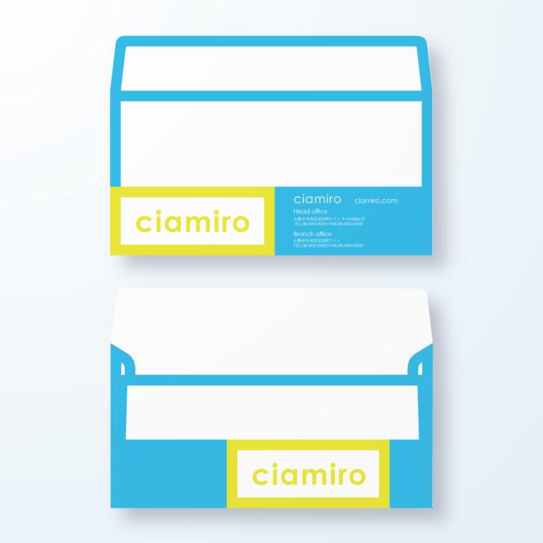 封筒デザイン【洋長3封筒】枠でネームを強調デザイン