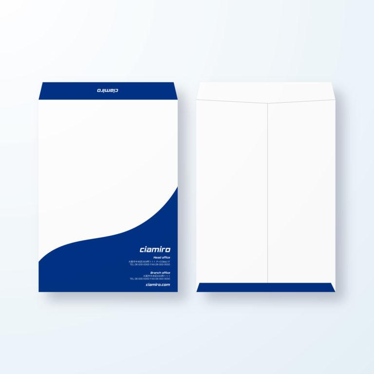 封筒デザイン【角2封筒】優雅でインパクトのある曲線デザイン