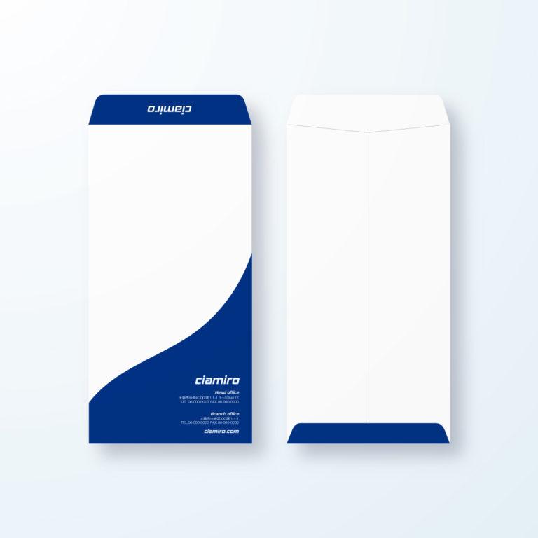 封筒デザイン【長3封筒】優雅でインパクトのある曲線デザイン