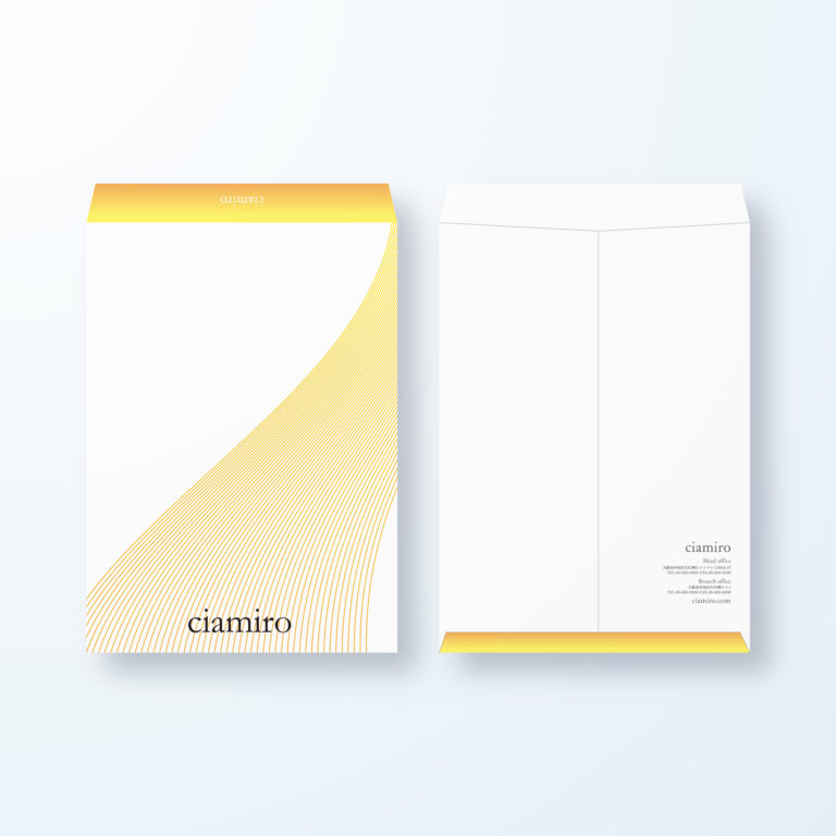 封筒デザイン【角2封筒】立体線でスタイリッシュ