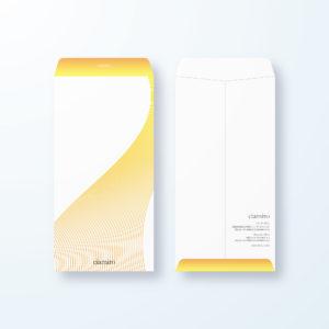 封筒デザイン【長3封筒】立体線でスタイリッシュ
