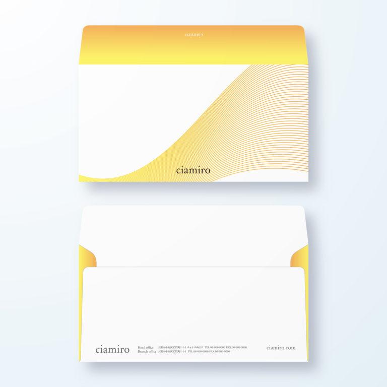 封筒デザイン【洋長3封筒】立体線でスタイリッシュ