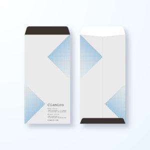 封筒デザイン【長3封筒】スタイリッシュ光の軌跡