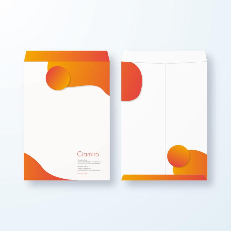 封筒デザイン【角2封筒】丸みがポップなポップアート