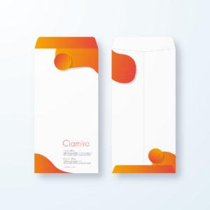 封筒デザイン【長3封筒】丸みがポップなポップアート