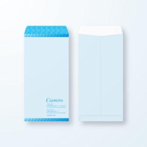 封筒デザイン【長3封筒】立体でスタイリッシュライン