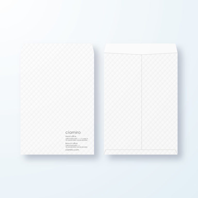 封筒デザイン【角2封筒】ふんわりデザイン