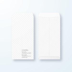 封筒デザイン【長3封筒】ふんわりデザイン