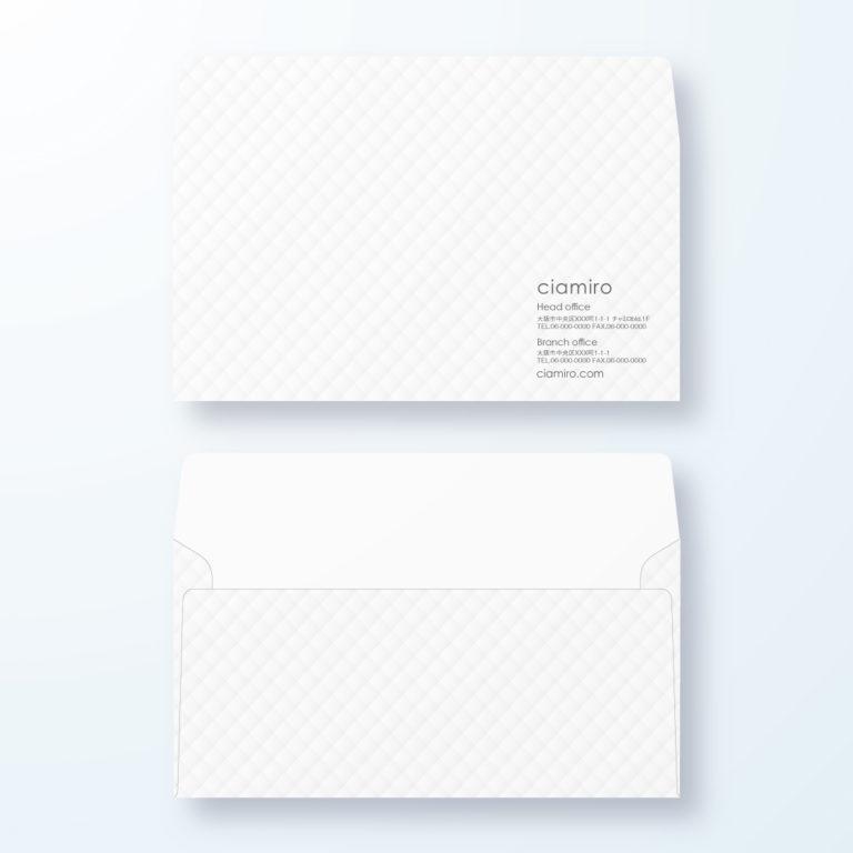 封筒デザイン【洋長3封筒】ふんわりデザイン