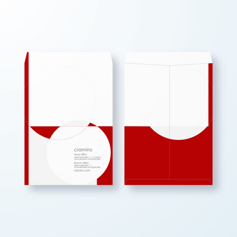 封筒デザイン【角2封筒】和モダン 境目の交わりデザイン