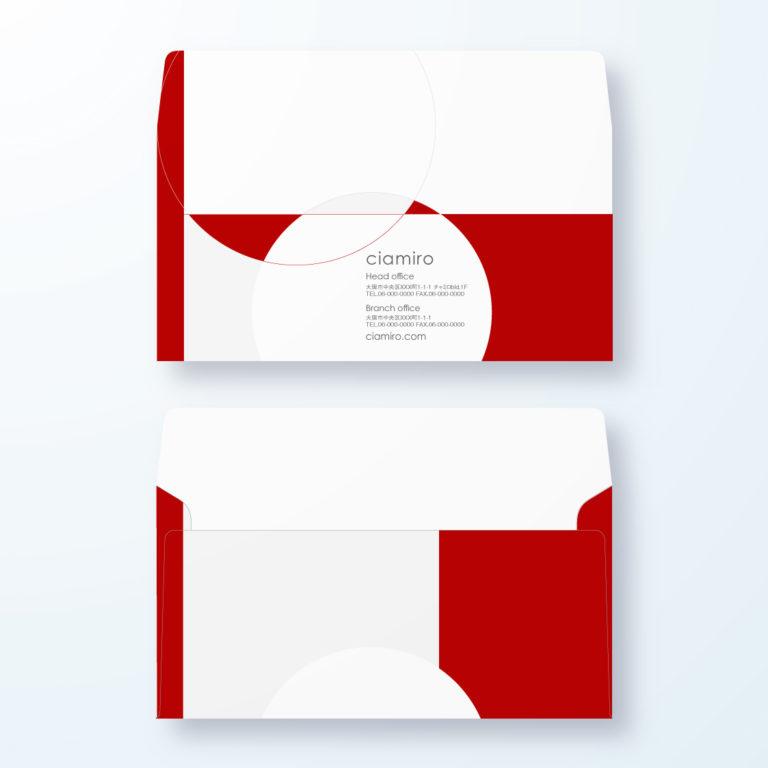 封筒デザイン【洋長3封筒】和モダン 境目の交わりデザイン