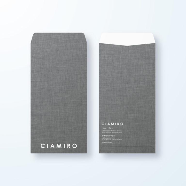封筒デザイン【長3封筒】シックなキャンバス生地デザイン