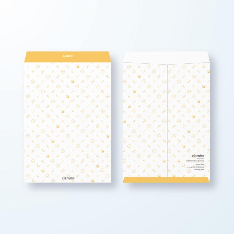 封筒デザイン【角2封筒】電気記号模様のエレクトリックデザイン