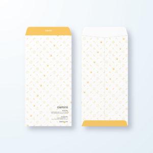 封筒デザイン【長3封筒】電気記号模様のエレクトリックデザイン