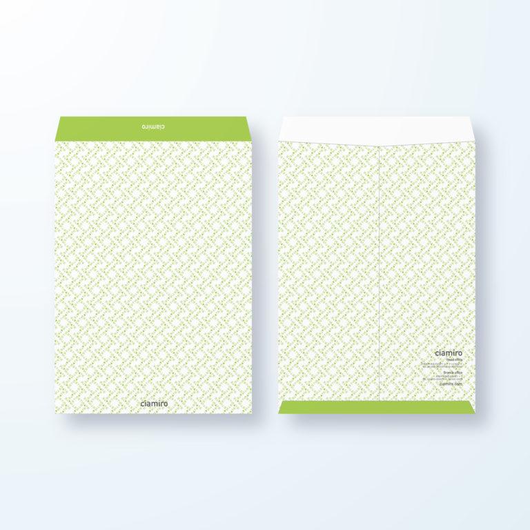 封筒デザイン【角2封筒】Estimate(見積)文字デザイン