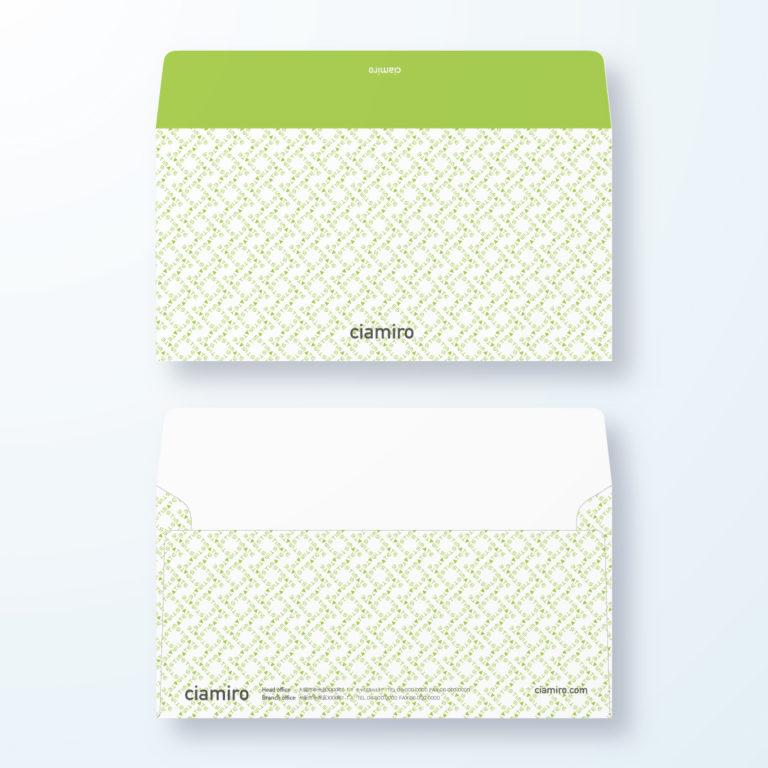 封筒デザイン【洋長3封筒】Estimate(見積)文字デザイン