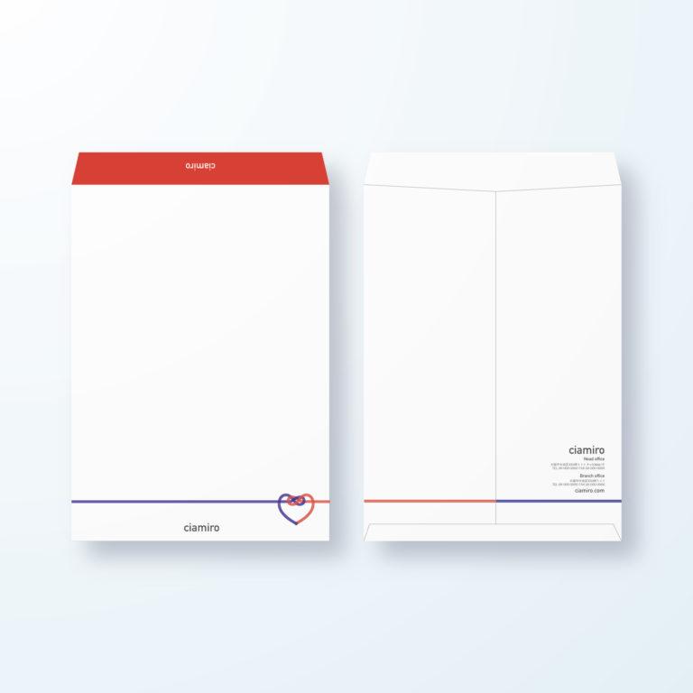 封筒デザイン【角2封筒】心の繋がりのやさしいデザイン