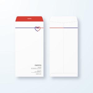 封筒デザイン【長3封筒】心の繋がりのやさしいデザイン