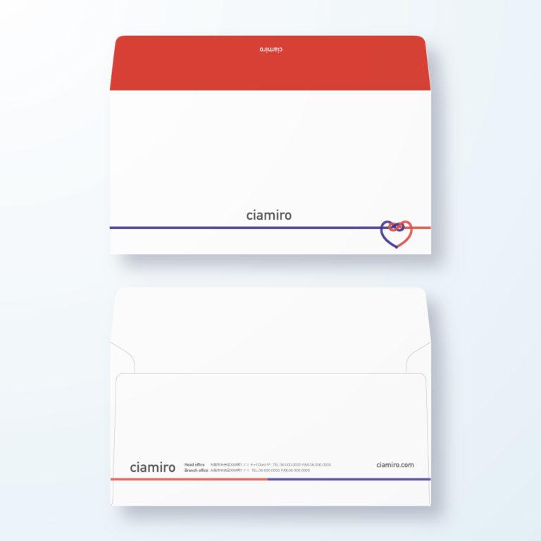 封筒デザイン【洋長3封筒】心の繋がりのやさしいデザイン