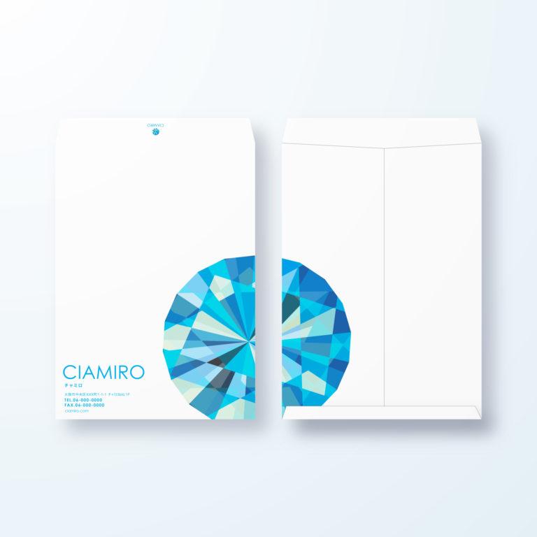 封筒デザイン【角2封筒】ダイヤモンドモチーフデザイン