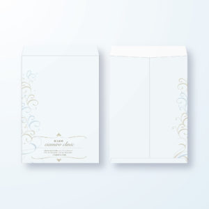 封筒デザイン【角2封筒】清潔感のある唐草エレガント封筒デザイン