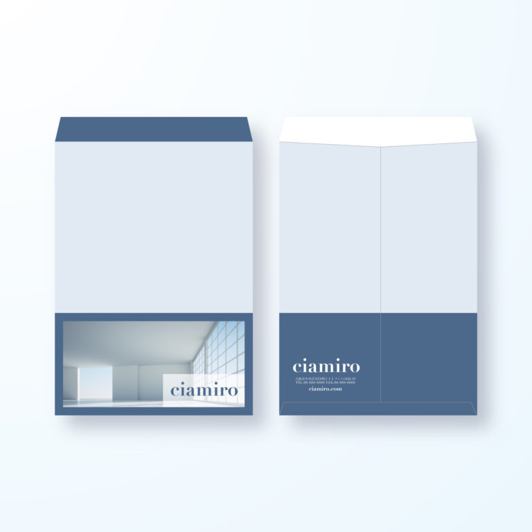 封筒デザイン【角2封筒】スタイリッシュモダンなお部屋の封筒デザイン