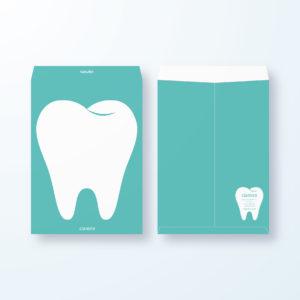 封筒デザイン【角2封筒】大きく分かりやすく歯の封筒デザイン