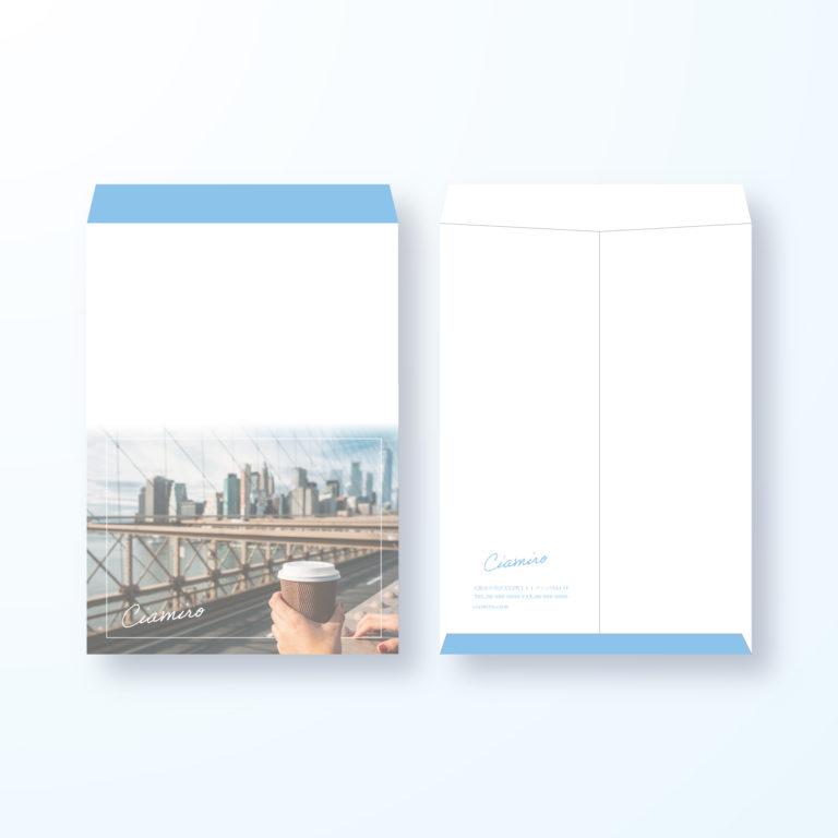 封筒デザイン【角2封筒】ニューヨークスタイル都会的な封筒デザイン