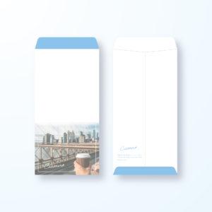 封筒デザイン【長3封筒】ニューヨークスタイル都会的な封筒デザイン