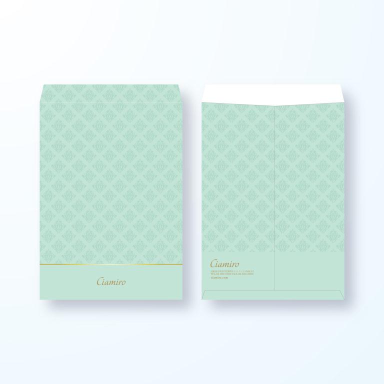 封筒デザイン【角2封筒】ダマスク模様でエレガントな封筒デザイン