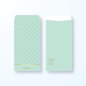 封筒デザイン【長3封筒】ダマスク模様でエレガントな封筒デザイン