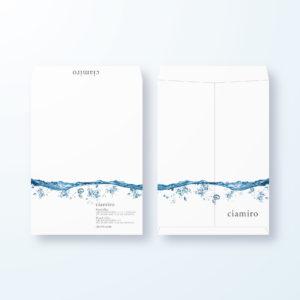 封筒デザイン【角2封筒】透き通った水の封筒デザイン