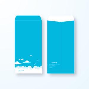 封筒デザイン【長3封筒】気持ちのいい大空の封筒デザイン